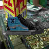 SP20 Skate LTD Sci Fi Fantasy VN0 A4 VCE061 Sk8 Hi Pro Blk Blu Elv Side