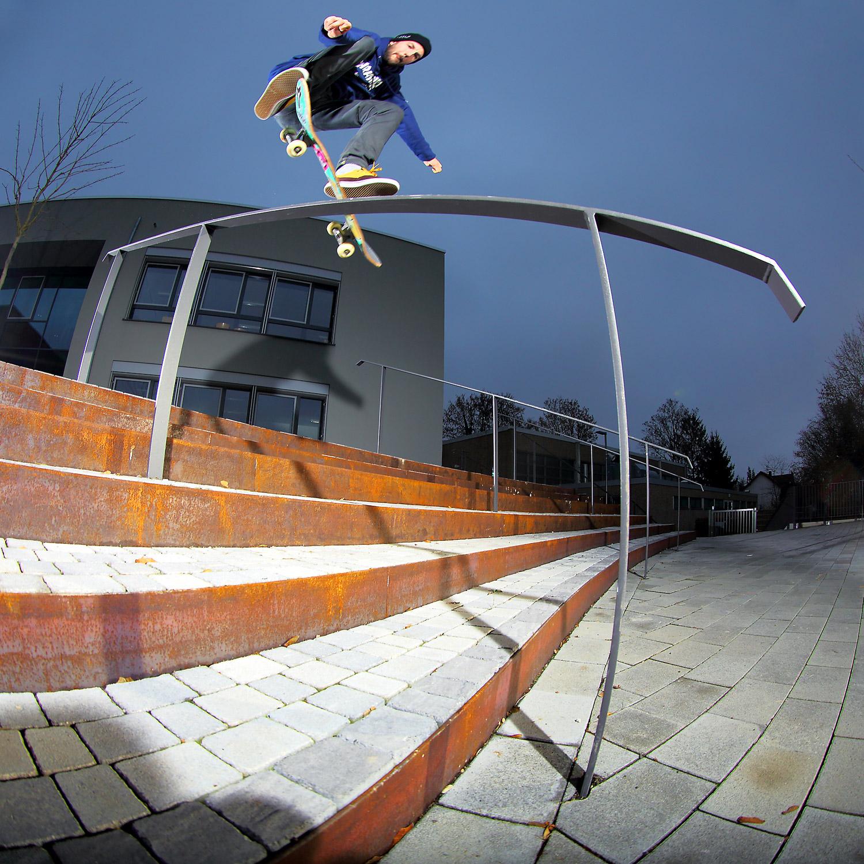 Fabian Michel Kickflip Boardslideadj Wiesbaden