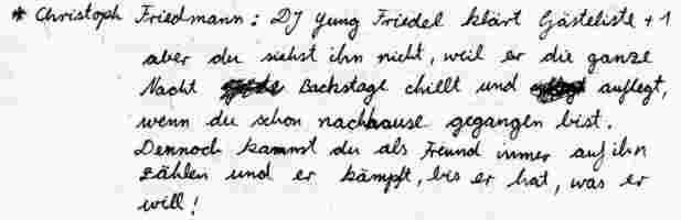 Christoph Friedmann Text